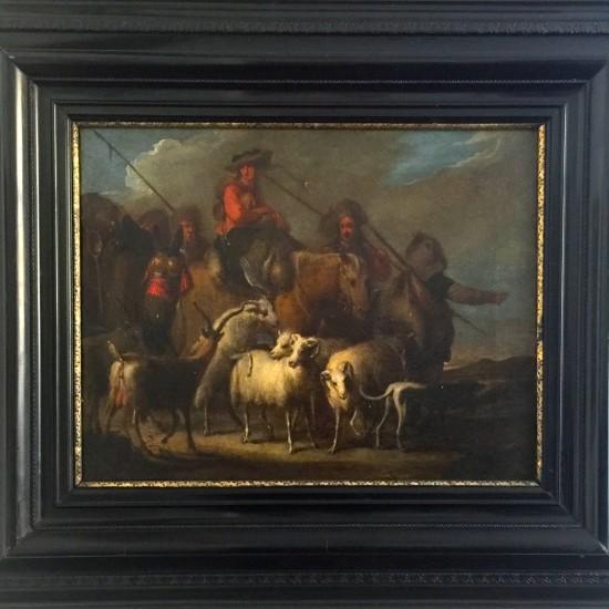JAN MIEL (CAVALIERE GIOVANNI MILO), 1599-1663-Convoi de călători
