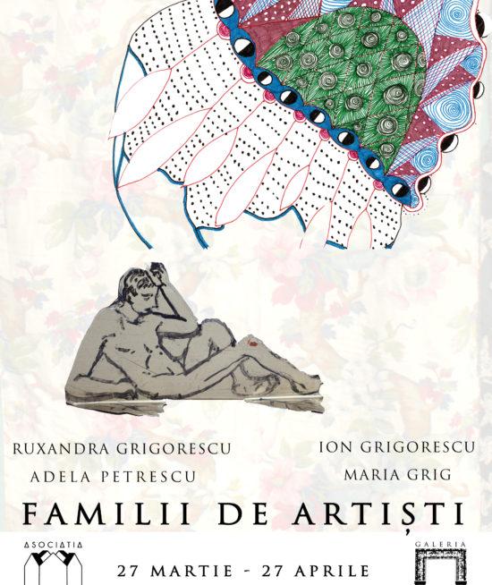 Afis expozitie familii de artişti